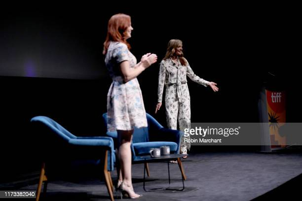 Alicia Malone and Allison Janney attend In Conversation WithAllison Janney during the 2019 Toronto International Film Festival at TIFF Bell Lightbox...