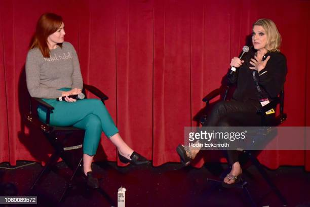 Alicia Malone and Nina Menkes attend 'Sex And Power The Visual Language Of Oppression' at AFI FEST 2018 Presented By Audi at TCL Chinese 6 Theatres...