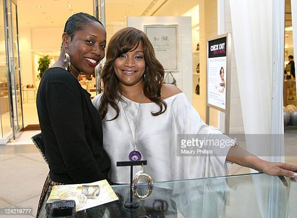 Alicia Malone and Simone I Smith attend Simone | Smith Fall Jewelry Collection Debut on Fashion's Night Out at Bloomingdale's on September 8 2011 in...