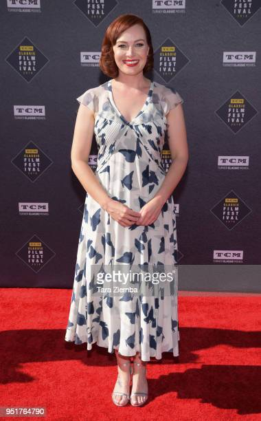 Alicia Malone attends the 2018 TCM Classic Film Festival Opening Night Gala 50th Anniversary World Premiere Restoration of 'The Producers' at TCL...