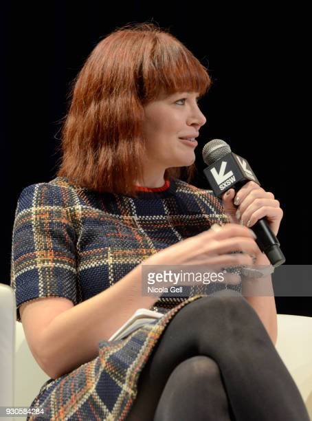 Alicia Malone speaks onstage at The Female Voices of Film Twitter during SXSW at Austin Convention Center on March 11 2018 in Austin Texas