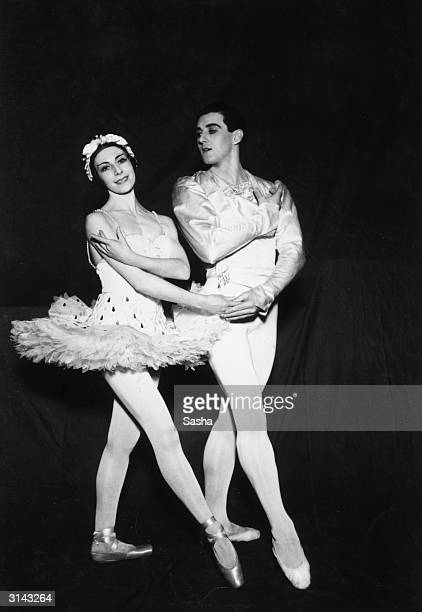 Alicia Markova and Anton Dolin in the ballet 'Mother Goose'. Markova co-founded the London Festival Ballet in 1949 with Dolin.