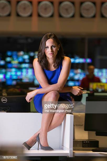 DORAL FLORIDA OCTOBER 24 2013 Alicia Menendez new anchorwoman for Fusion TV show being shot in Miami Florida She is also the daughter of New Jersey...