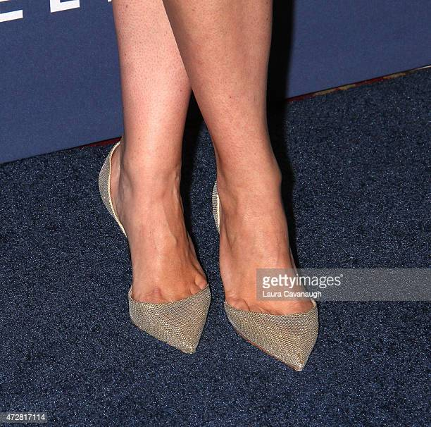 Alicia Menendez shoe detail attends 26th Annual GLAAD Media Awards at The Waldorf Astoria on May 9 2015 in New York City