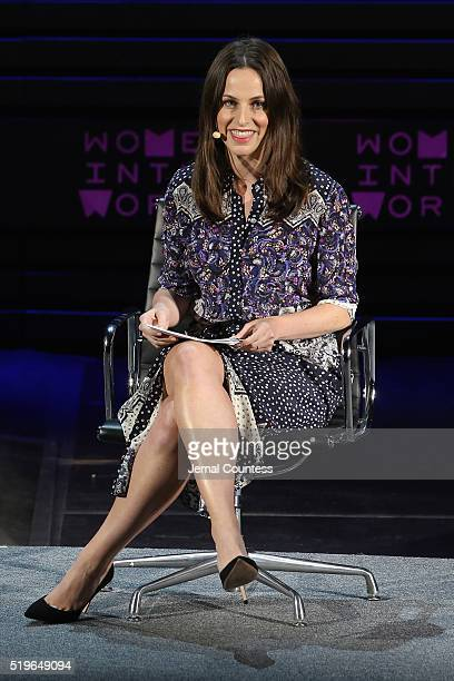 Alicia Menendez speaks onstage at Standing Her Ground during Tina Brown's 7th Annual Women In The World Summit at David H Koch Theater at Lincoln...
