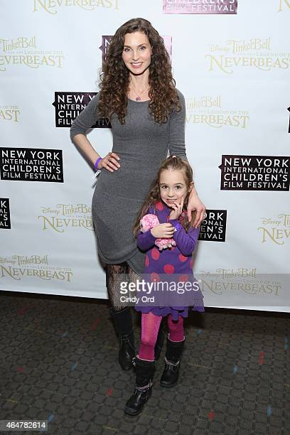 Alicia Minshew and daughter Willow Lenora Herschenfeld attend Disneys 'Tinker Bell and the Legend of the NeverBeast' NYICFF Special Screening at SVA...