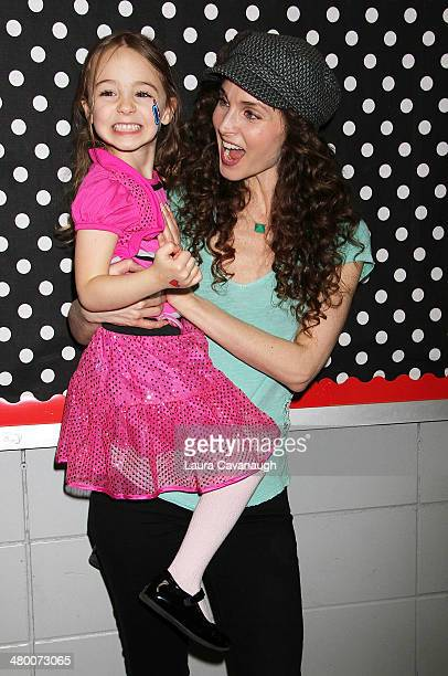 Alicia Minshew and daughter Willow Lenora Herschenfeld attend Save The Music Foundation's 'Family Day' at The Anderson School on March 22 2014 in New...
