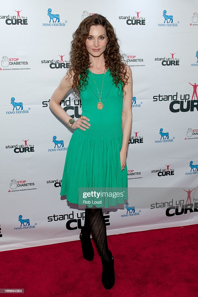 Alicia Minshew arrives at Stand Up For a Cure at Madison Square Garden on April 17, 2013 in New York City.