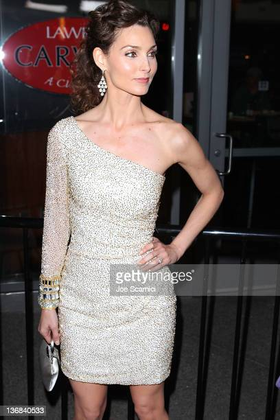 Alicia Minshew arrives at The Hollywood Agency 2012 People's Choice Awards at Club Nokia at LA Live on January 11 2012 in Los Angeles California