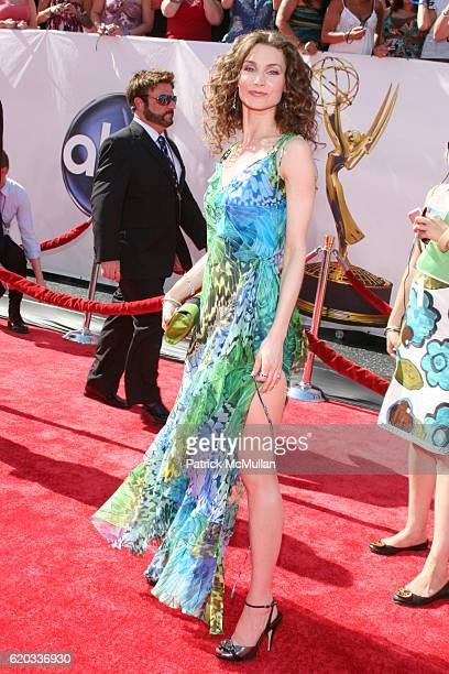 Alicia Minshew attends 2008 Daytime Emmy Awards at Kodak Theatre on June 20 2008 in Hollywood CA