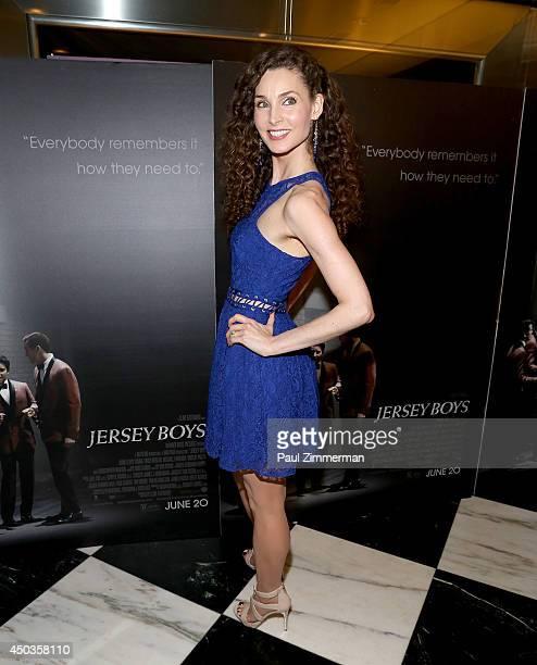 Alicia Minshew attends the 'Jersey Boys' Special Screening at Paris Theater on June 9 2014 in New York City