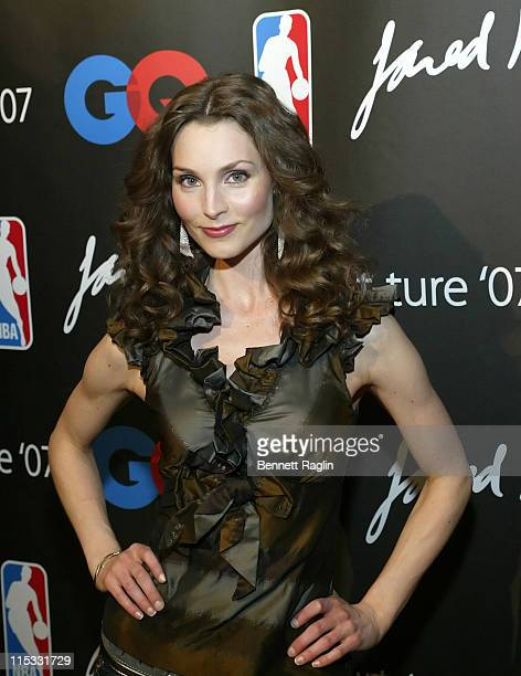 Alicia Minshew during GQ and NBA Present Courtture '07 CoHosted by Tony Potts and Frederique Van Der Wal at NBA Store in New York City New York...