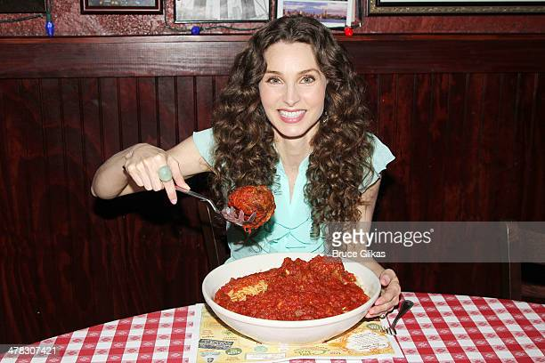 Alicia Minshew promotes 'Beacon Hill' as she visits Buca di Beppo Times Square on March 12 2014 in New York City