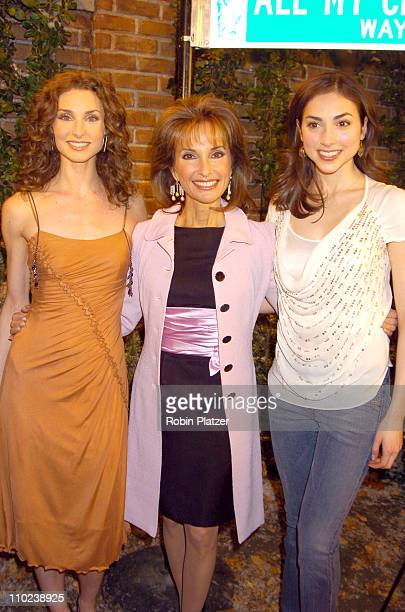 Alicia Minshew Susan Lucci and Eden Riegel during 'All My Children' 35th Anniversary Street Sign Dedication at ABC Studios in New York City New York...