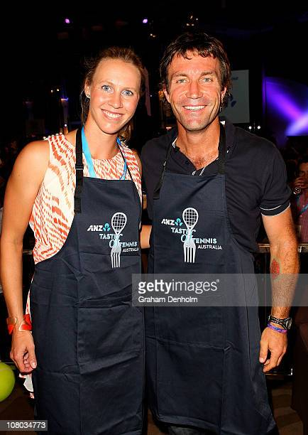 Alicia Molik and Pat Cash attend the ANZ Taste of Tennis at the Grand Hyatt Melbourne on January 14 2011 in Melbourne Australia