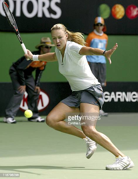 Alicia Molik ends her hopes for an Australian trophy loosing 79 in the third to Lindsay Davenport at the 2005 Australian Open at Melbourne Park in...