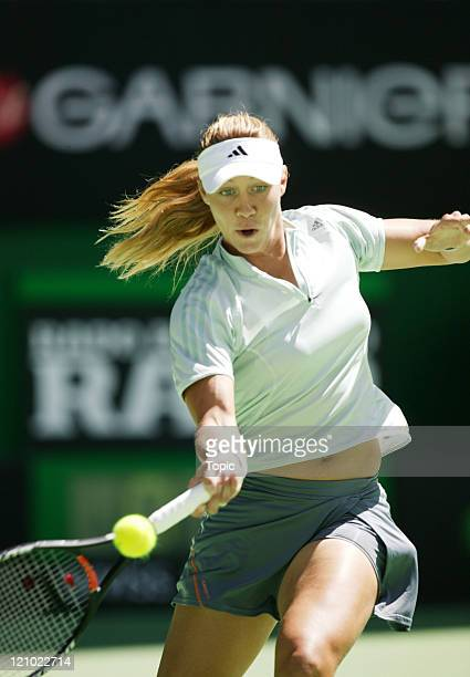 Alicia Molik vs Tatiana Panova during the third round of the Australian Open at Melbourne Park in Melbourne Australia on January 22 2005