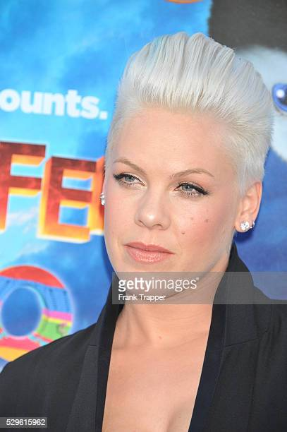 Alicia Moore arrives at the world premiere of 'Happy Feet Two' held at Grauman's Chinese Theater in Hollywood