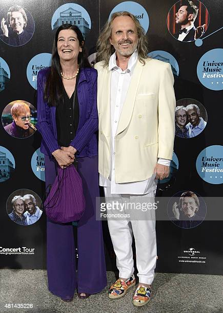 Alicia Moreno and Miguel Bose attend the Elton John concert at the Royal Theater on July 20 2015 in Madrid Spain