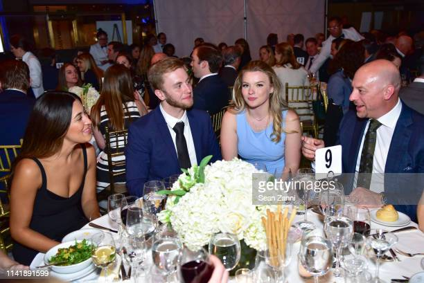 Alicia Nickell a guest Julia Hussey and Chuck Arnold attend The One Love Foundation's One Night for One Love at Cipriani 42nd Street on April 10 2019...