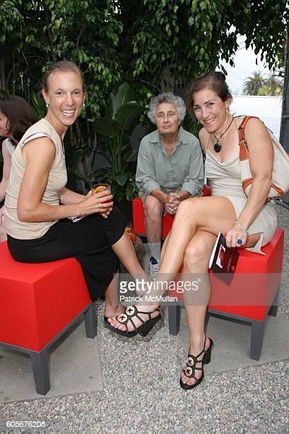 Alicia Patterson Rema Goodman and Amy Hutner attend House of Campari and the New Yorker present readings by Jennifer Kaufman and Karen Mack at House...