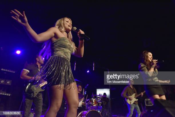 Alicia Paulson and Kristen Brown of Auburn Road perform at Ace of Spades on July 26 2018 in Sacramento California
