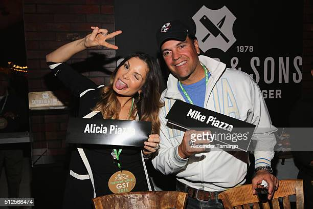 Alicia Piazza and Mike Piazza attend Amstel Light Burger Bash Presented By Schweid Sons Hosted By Rachael Ray during 2016 Food Network Cooking...