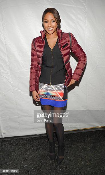 Alicia Quaries is seen during MercedesBenz Fashion Week Fall 2014 at Lincoln Center for the Performing Arts on February 8 2014 in New York City