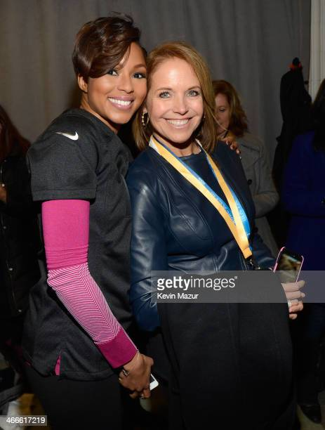 Alicia Quarles and Katie Couric attend the Pepsi Super Bowl XLVIII Pregame Show at MetLife Stadium on February 2 2014 in East Rutherford New Jersey