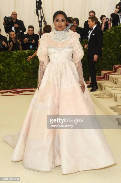 Alicia Quarles attends the Heavenly Bodies Fashion The Catholic Imagination Costume Institute Gala at The Metropolitan Museum of Art on May 7 2018 in...