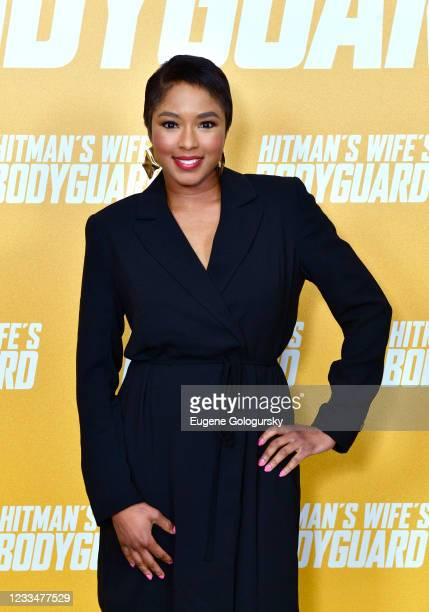"""Alicia Quarles attends the """"Hitman's Wife's Bodyguard"""" special screening at Crosby Street Hotel on June 14, 2021 in New York City."""