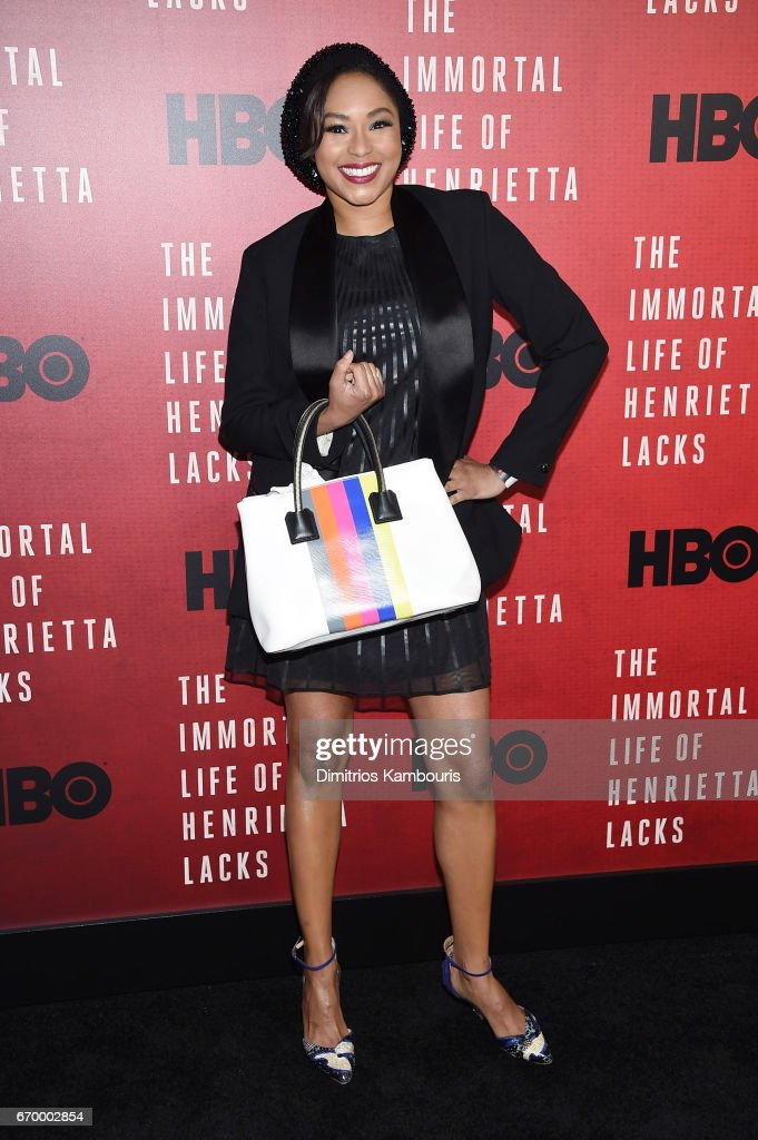 Alicia Quarles attends 'The Immortal Life of Henrietta Lacks' premiere at SVA Theater on April 18, 2017 in New York City.