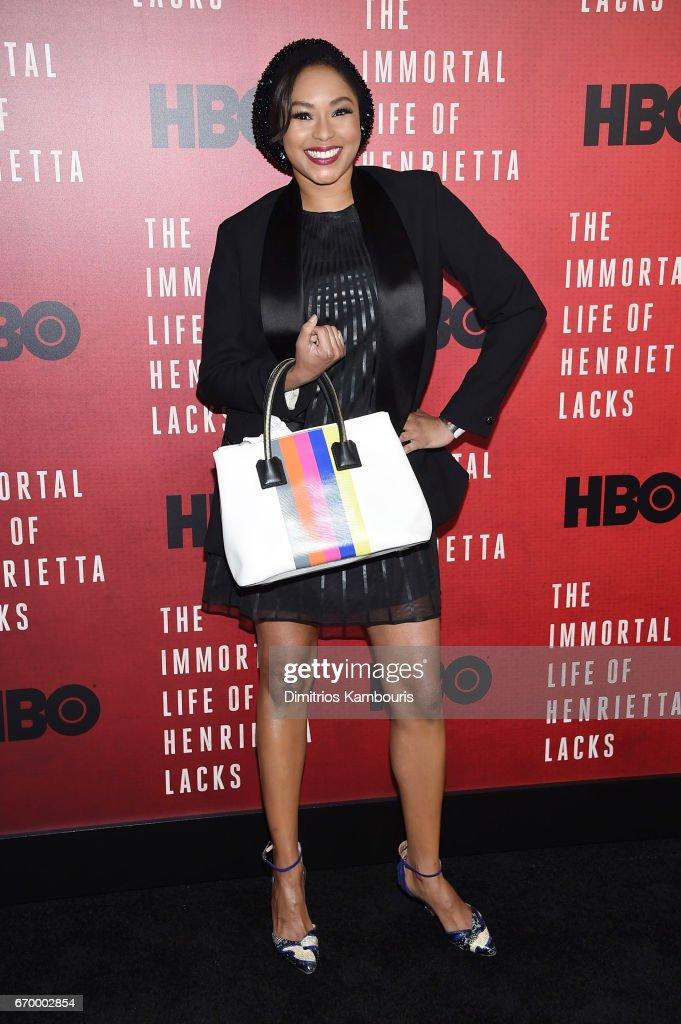 Alicia Quarles attends 'The Immortal Life of Henrietta Lacks' premiere at SVA Theater on April 18, 2017 in New York City.