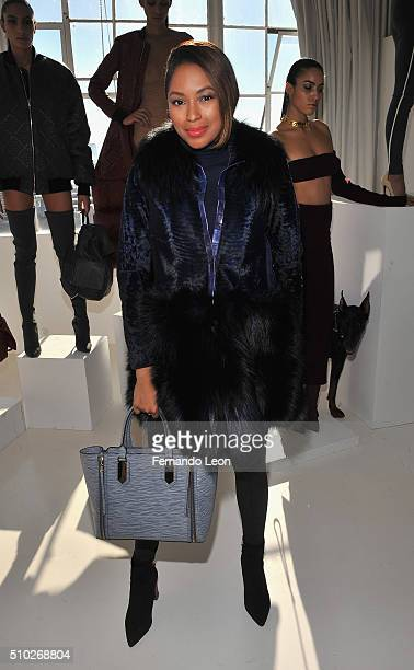 Alicia Quarles attends the Laquan Smith Presentation at Jack Studios during Fall 2016 New York Fashion Week on February 14 2016 in New York City