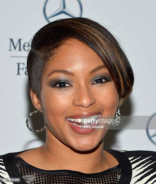 Alicia Quarles attends the MercedesBenz Star Lounge during MercedesBenz Fashion Week Fall 2014 at Lincoln Center on February 8 2014 in New York City