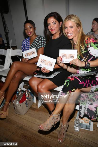 Alicia Quarles Kathy Wakile and Jill Martin attend Clear Eyes Partners With The Nolcha Shows To Showcase Emerging Designers' #MyShiningMoment at West...