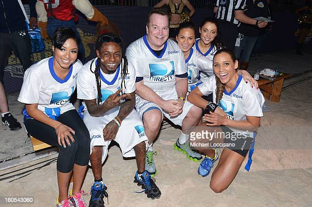 Alicia Quarles Lil Wayne Tom Arnold Christine Teigen Leah Gibson and Lolo Jones attend DIRECTV'S Seventh Annual Celebrity Beach Bowl at DTV SuperFan...