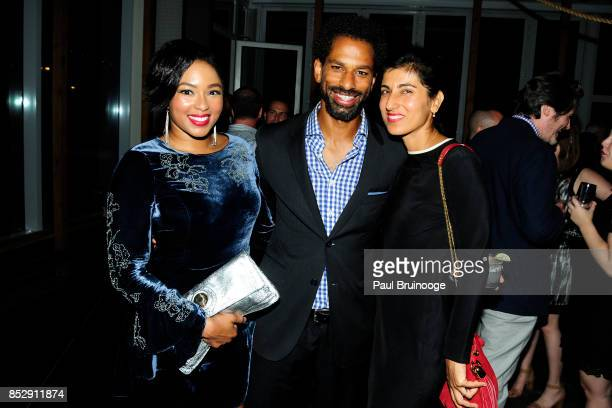 Alicia Quarles Toure and Rita Nakouzi attend NBC Vanity Fair host a party for Will Grace at Mr Purple at the Hotel Indigo LES on September 23 2017 in...