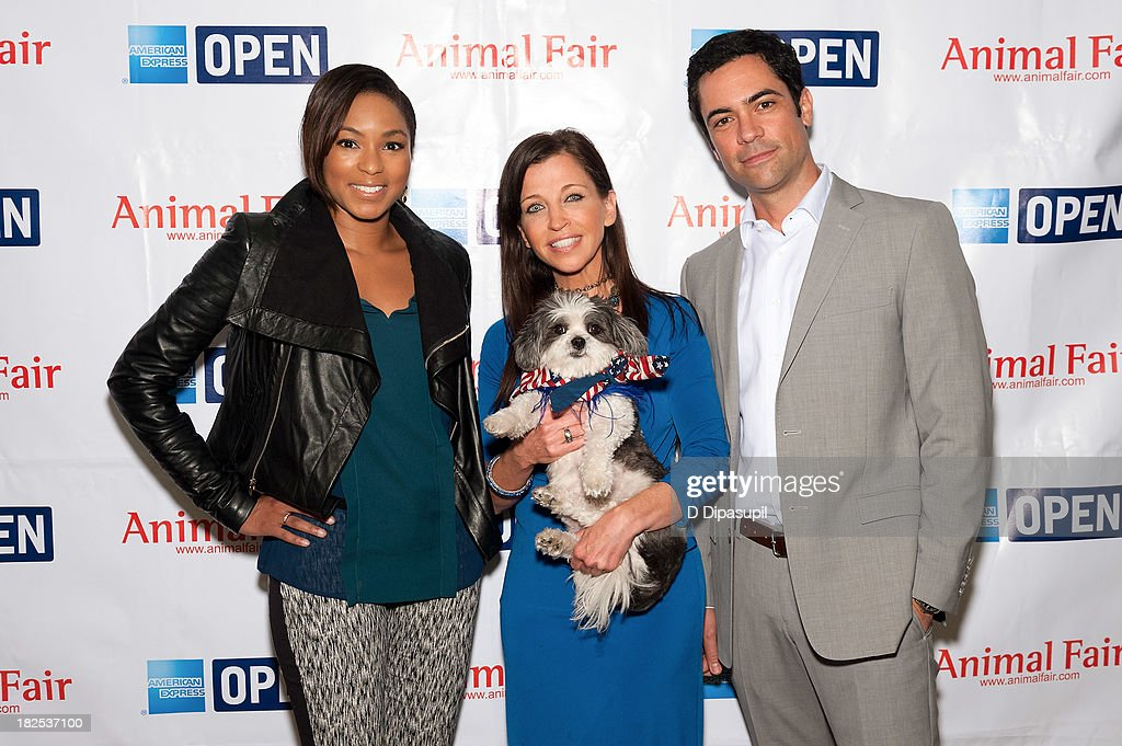 Alicia Quarles, Wendy Diamond, and Danny Pino attend the 'Animalfair.com's Bark Business Tour Benefiting K9s For Warriors at the Omni Berkshire Place Hotel on September 30, 2013 in New York City.