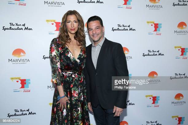 Alicia Reiner and David Alan Basche attend The Year of Spectacular Men premiere at the 4th Annual Bentonville Film Festival Day 4 on May 4 2018 in...