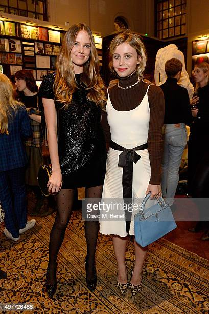 Alicia Rountree and Billie JD Porter attend the 'Louis Vuitton Windows' book launch at Maison Assouline on November 18 2015 in London England