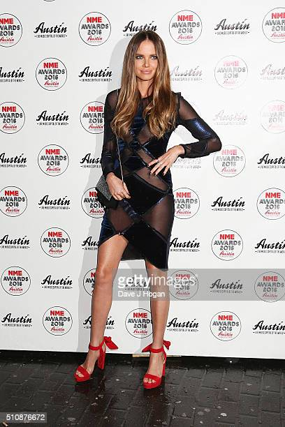 Alicia Rountree arrives for the NME awards at O2 Academy Brixton on February 17 2016 in London England