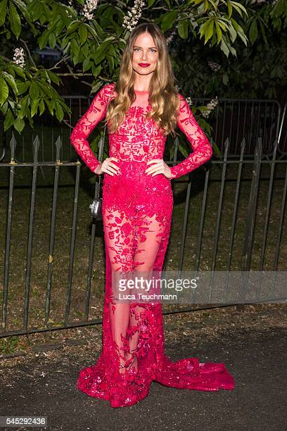Alicia Rountree arrives for the Serpentine Summer Party at The Serpentine Gallery on July 6 2016 in London England