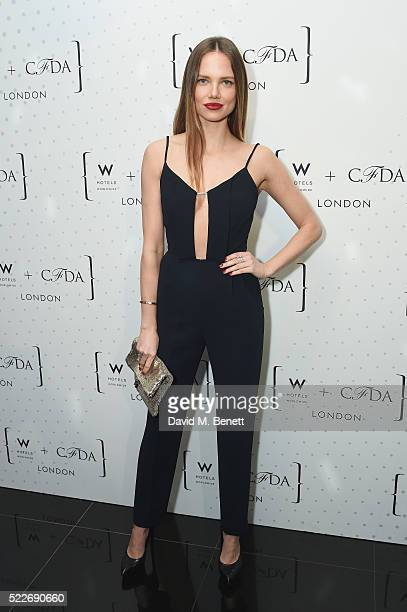Alicia Rountree attends a cocktail party hosted by The CFDA at W Hotels London to showcase the current CFDA class on April 20 2016 in London England
