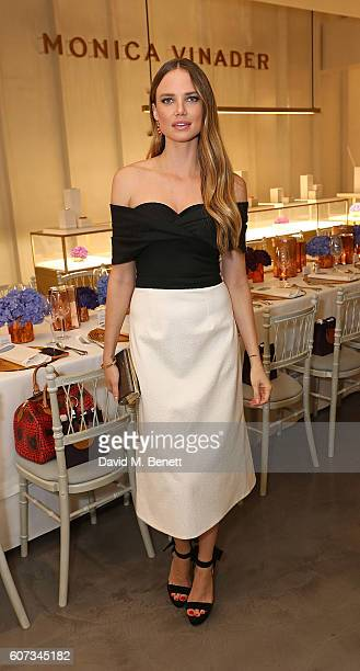 Alicia Rountree attends an intimate dinner hosted by Monica Vinader to celebrate Fashion Artist Jenny Walton's illustrations of the iconic Signature...