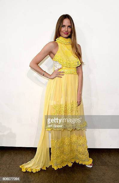 Alicia Rountree attends the Bora Aksu show during London Fashion Week Spring/Summer collections 2017 on September 16, 2016 in London, United Kingdom.