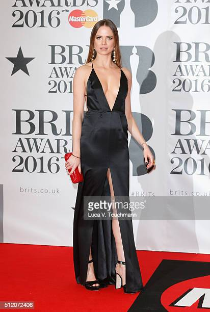 Alicia Rountree attends the BRIT Awards 2016 at The O2 Arena on February 24 2016 in London England