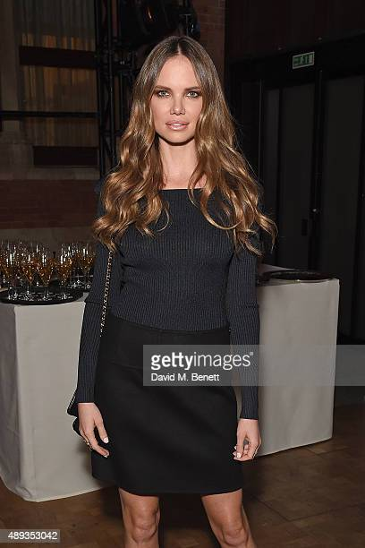 Alicia Rountree attends the Pringle of Scotland S/S16 Presentation during london Fashion Week at St Pancras Renaissance London Hotel on September 20...