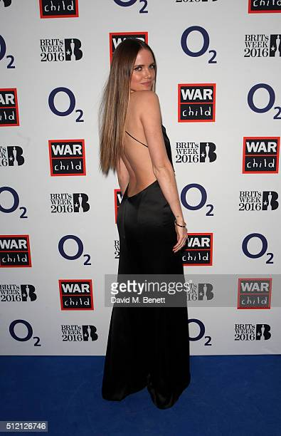 Alicia Rountree joins War Child and O2 to watch Coldplay perform at their intimate show at Passport to BRITs week on February 24 2016 in London...