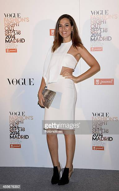 Alicia Rubio attends the Vogue Fashion's Night Out Madrid 2014 on September 18 2014 in Madrid Spain